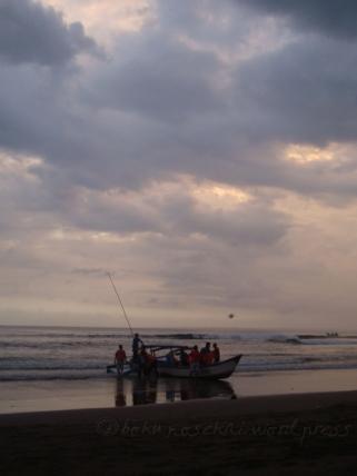 Pangadaran Beach- a boat