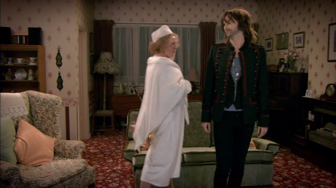 Nan (Cath Tate) and the Ghost of Christmas Present (Tennant)