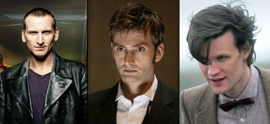 The 9th Doctor, The 10th Doctor, the 11th Doctor