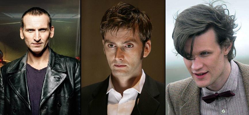 The 9th Doctor, The 10th Doctor, the 11th Doctor