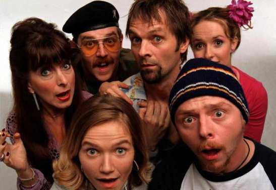 From left to right (front row): Daisy, Tim (Back row): Marsha, Mike, Brian, Twist