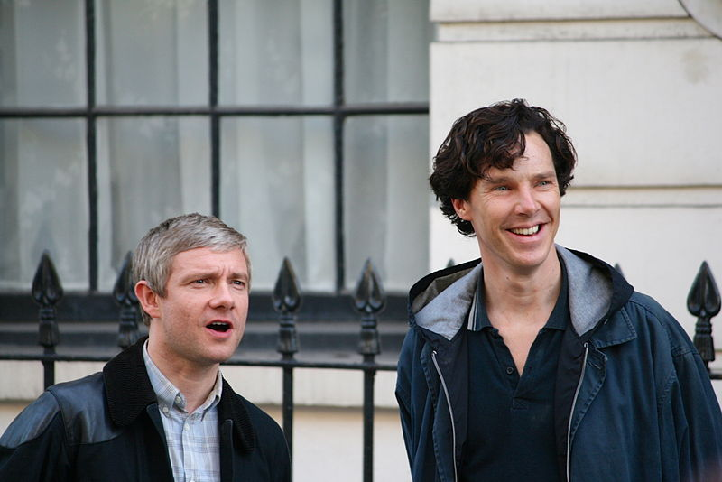 Martin and Benny on the set