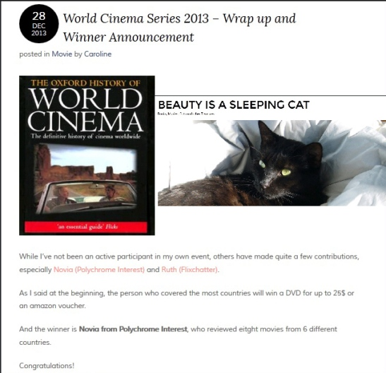 World Cinema series winner