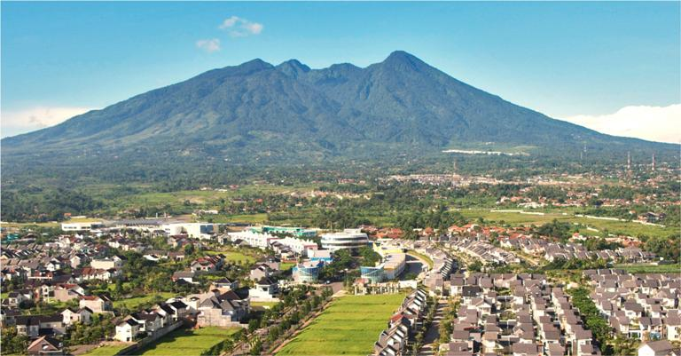 Gunung Salak can also be seen from South Jakarat if the weather is really clear