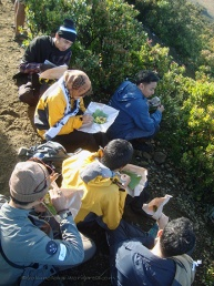 Eating while seeing the view of Surya Kencana