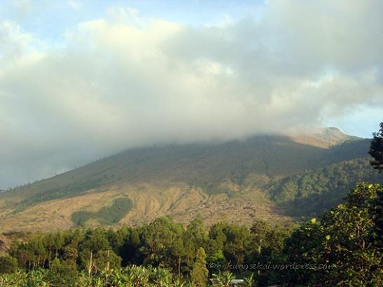 The summit hidden behind the cloud