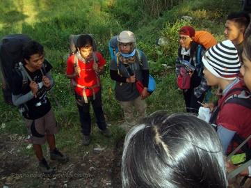 Pray before hiking
