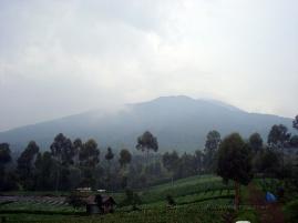 Mount slamet from afar