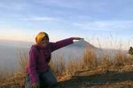 Touching the tip of Mount Cikurai