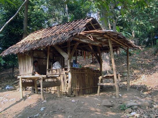 Warung made of bamboo