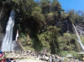 View of Cibeureum Waterfall